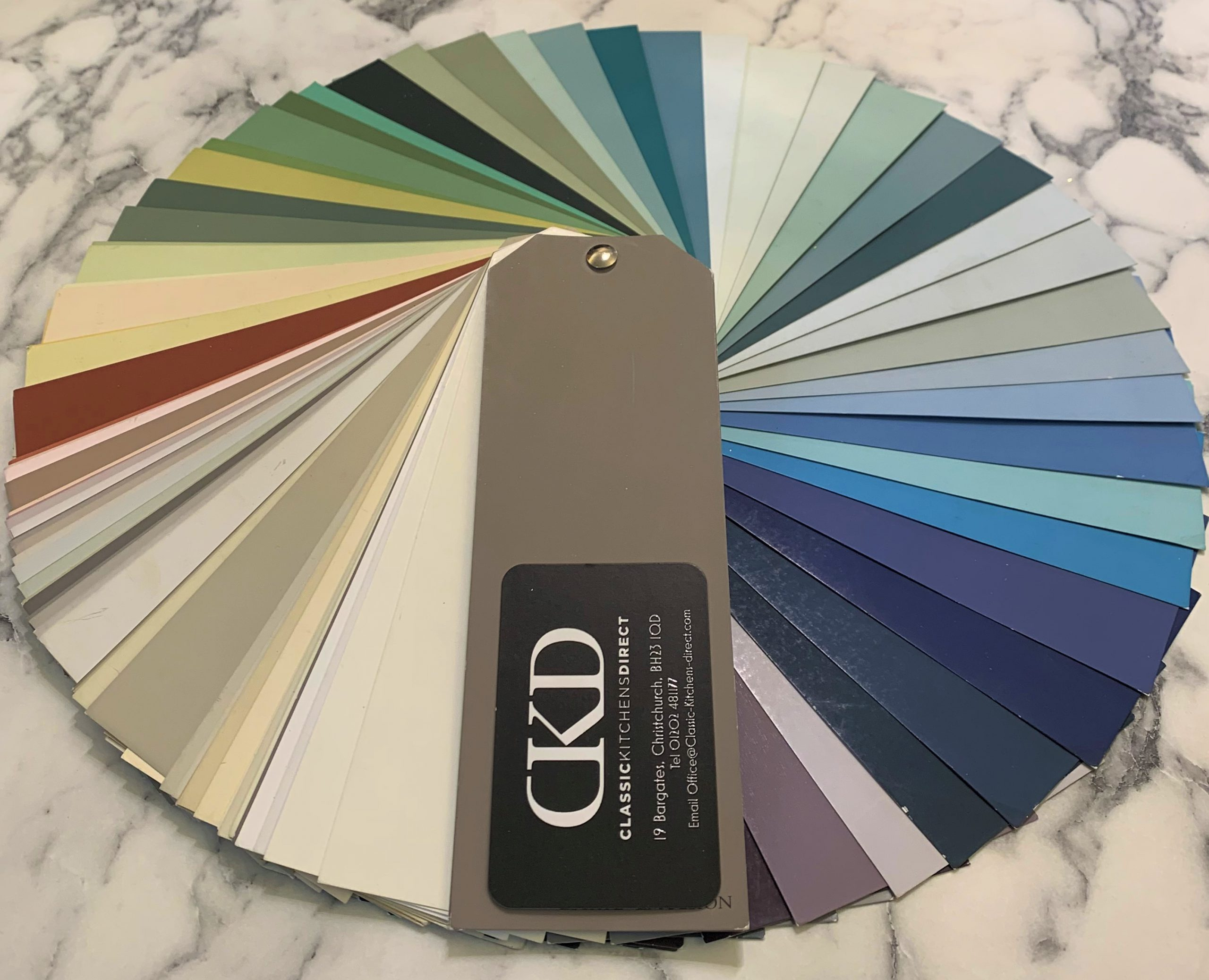 colour swatches for painted kitchens