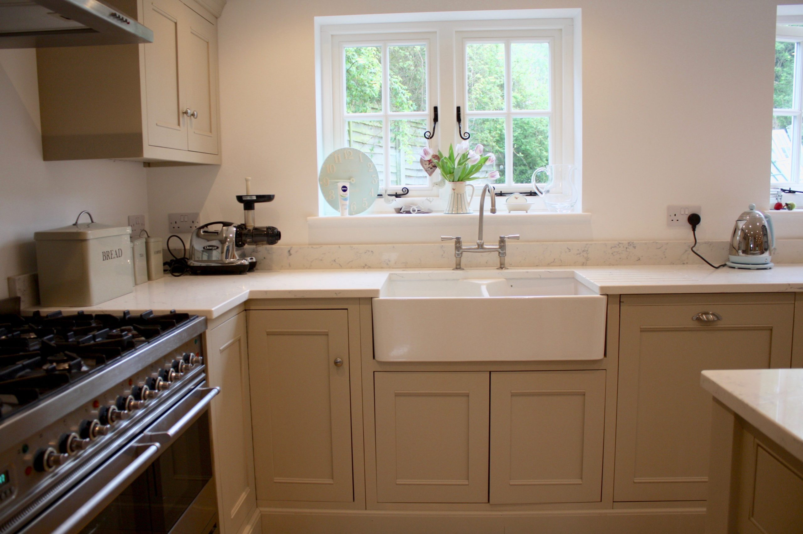 beige kitchen with country charm